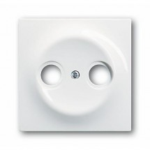 Лицевая накладка TV+R телевизионной розетки 1743-74 ABB Impuls белый цвет