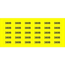 Липкая лента Напряжение 380В (34х17)