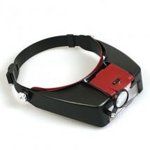 Лупа бинокуляр LED с подсветкой 1,5х3х8.5х10х Magnifier MG 81007-А