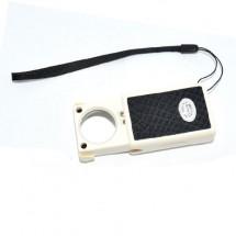 Лупа карманная с подсветкой 35х25мм 14-0337