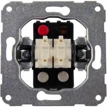 Механизм двухклавишного выключателя 11000602 Polo / Hager