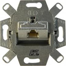 Механизм компьютерной розетки RJ45, кат.5е, экранированная с наклонным выходом, с клеммами 0216