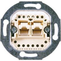 Механизм розетки 8-полюсный двойной (RJ 11/12, RJ/45) 0215-507 АВВ Reflex / Bush Duro / Basic 55