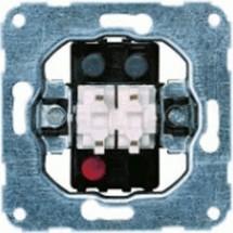 Механизм виключателя 2-клавишный / жалюзи 11004802 Hager / Polo