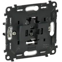 Механизм выключателя 1-клавишного перекрестного Legrand Valena IN'MATIC 752016 10AX 250В самозажимные клеммы