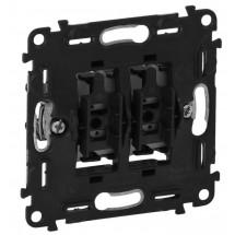 Механизм выключателя 2-клавишного Legrand Valena IN'MATIC 752005 10AX 250В самозажимные клеммы