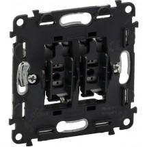 Механизм выключателя 2-клавишного проходного Legrand Valena IN'MATIC 752028 10A 250В самозажимные клеммы