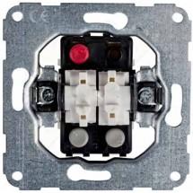 Механизм выключателя 2-клавишный 11016702 Hager / Polo в комплекте с лампой тлеющего разряда
