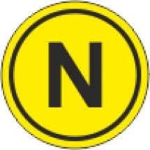 Наклейка обозначение Линия N (диаметр 25мм, самоклейка)