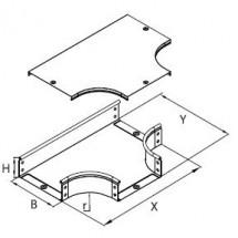Ответвитель Т-образный металлический 100*50 ДКС 36122