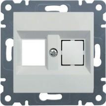 Панель двойная для RJ12/RJ45 HAGER LUMINA-2 WL2320 белый цвет