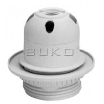Патрон электрический пластиковый Buko BK257 Е-27 белый