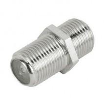 Переходник гнездо F -гнездо/F металлический кабельный сгон
