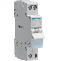 Переключатель ввода резерва Hager SFT132 230V/32A трехпозиционный 1-полюсный 1м