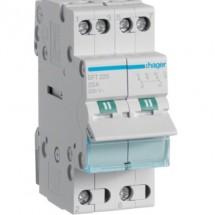 Переключатель ввода резерва Hager SFT232 230V/32A трехпозиционный 2м