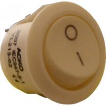 Переключатель YL213-02 Аско 1-клавишный круглый белый цвет Укрем Аско A0140040009