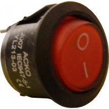 Переключатель YL213-03 1-клавишный круглый красный Укрем Аско A0140040010