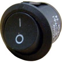 Переключатель YL213-04 1-клавишный круглый черный Укрем Аско A0140040011