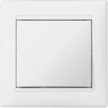 Переключатель 1-одинарный на 2 направления Legrand Cariva  773606 белый цвет