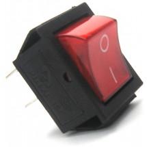 Переключатель KCD7 Аско 1-клавишный с красной подсветкой