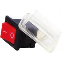 Переключатель YL211-03 Аско клавиша с защитой (красный цвет)