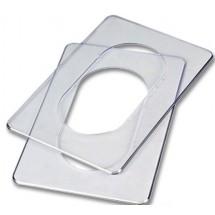 Прокладка под выключатель 140х180мм прозрачная полистирол МиниМакс