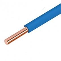 Провод ПВ-1 6 медный одножильный монтажный синий ЗЗКМ