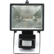 Прожектор 150W черный/с датчиком