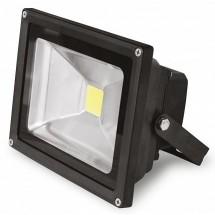 Прожектор светодиодный EUROELECTRIC LED COB SMD 10W 6500K 900Lm IP65 LED-FL-10(black) черный