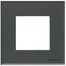 Рамка 1-кратная Zenit N2271 CF стекло графит