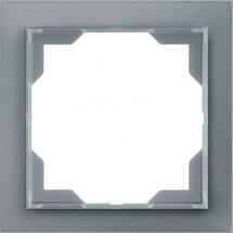 Рамка 1-постовая белый/серый лед Neo 3901M-A00110 44