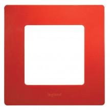 Рамка 1-постовая LEGRAND ETIKA 672531 красный