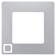 Рамка 1-постовая LEGRAND ETIKA 672551 алюминий