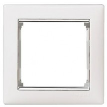 Рамка 1-кратная Legrand Valena 770491 белая / серебро
