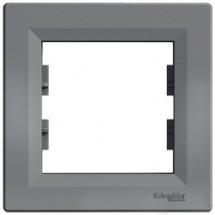Рамка 1-постовая Schneider ASFORA сталь EPH5800162