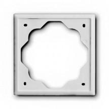 Рамка 1-постовая 1721-74 ABB Impuls белый цвет