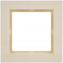 Рамка 1-постовая Fiorena 22011603 Hager / Polo слоновая кость