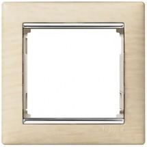 Рамка 1-постовая Legrand Valena 770381 светлое деревосеребро