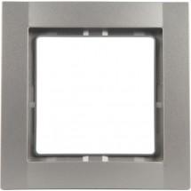Рамка 1-постовая металлик-matt Fiorena 22011619 Hager / Polo