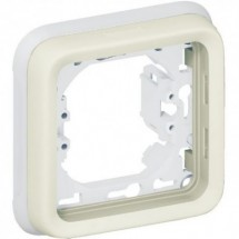Рамка 1-постовая+супорт для встроенного монтажа ІР55 Legrand Plexo 069692 белый цвет