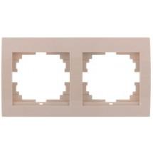 Рамка 2-кратная LEZARD DERIY 702-0303-147 горизонтальная крем