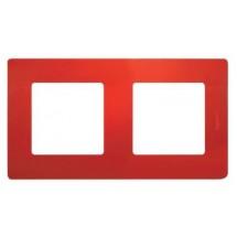 Рамка 2-постовая LEGRAND ETIKA 672532 красный
