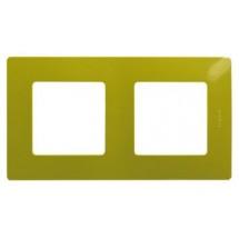Рамка 2-постовая LEGRAND ETIKA 672542 зеленый папоротник