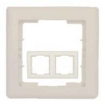 Рамка 2-постовая вертикальная бежевый цвет HANAK GES