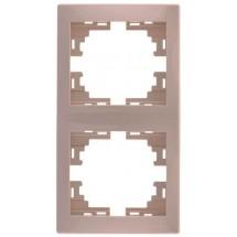 Рамка 2-кратная вертикальная LEZARD MIRA 701-0300-152 крем