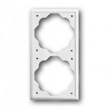 Рамка 2-постовая 1722-74 ABB Impuls белый цвет