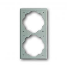 Рамка 2-постовая 1722-79 ABB Impuls шампань-металлик