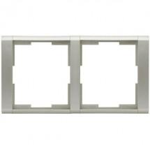 Рамка 2-постовая 3901F-A00120 32 ABB Time серебристый металлик