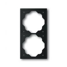 Рамка 2-постовая ABB Impuls черный бархат 1722-775