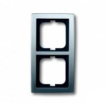 Рамка 2-постовая ABB SOLO Busch-Jaeger цвет матовый хром 1722-80